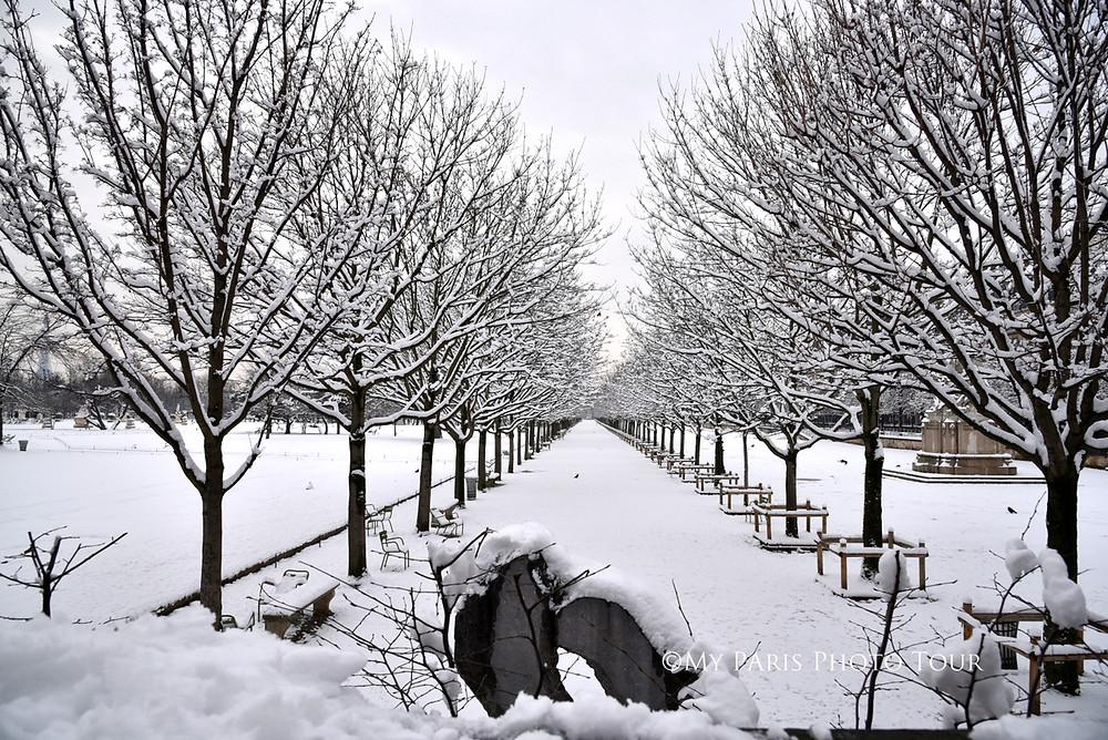 Neige au Jardin des Tuileries