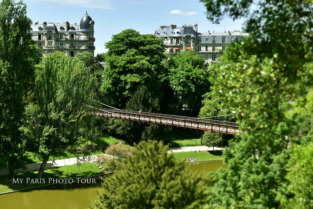 Puente, parque Buttes Chaumont