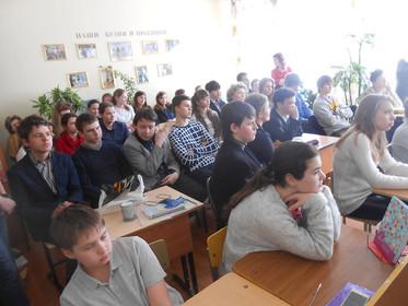 Урок социальной практики в ЧОУ СОШ «Ступени образования» Приокского района