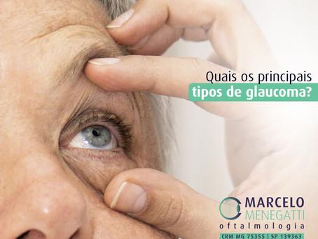 Quais os principais tipos de glaucoma?