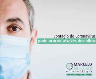 Contágio pelo Coronavírus pode ocorrer através dos olhos