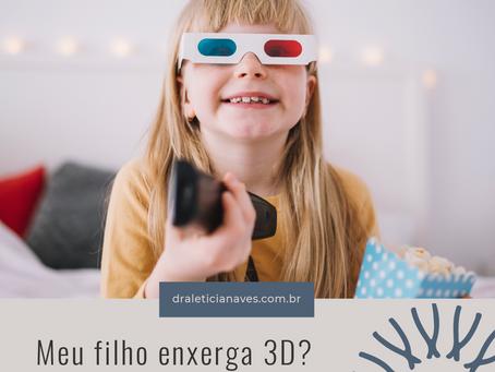 Meu filho enxerga 3D? Como saber?