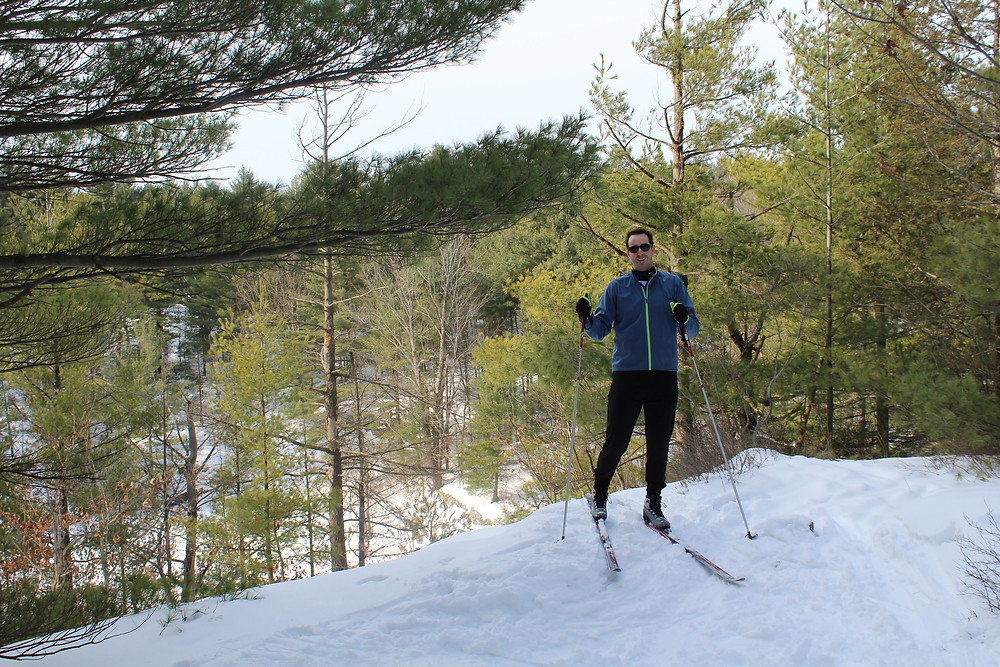At a lookout at the Triangle XC Ski Club