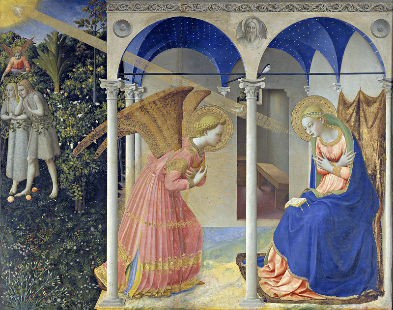 Angelico, fra, approximately 1400-1455. Annunciation to Mary 1425-1428, painted panel