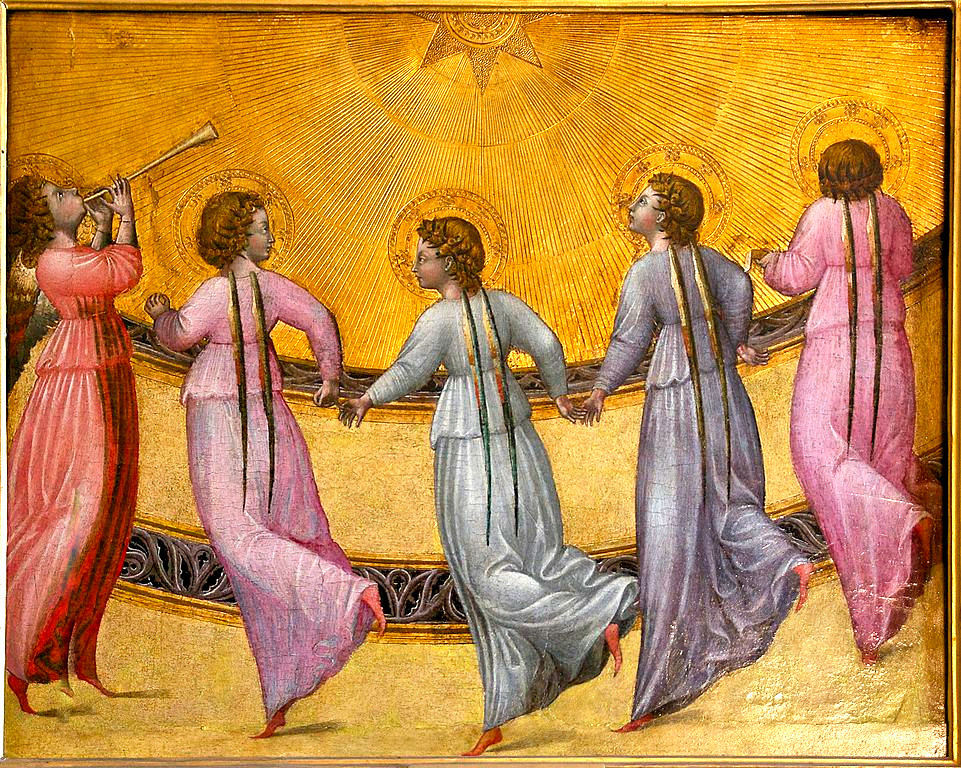 Five dancing angels C.1436 Giovanni di Paolo [Public domain]