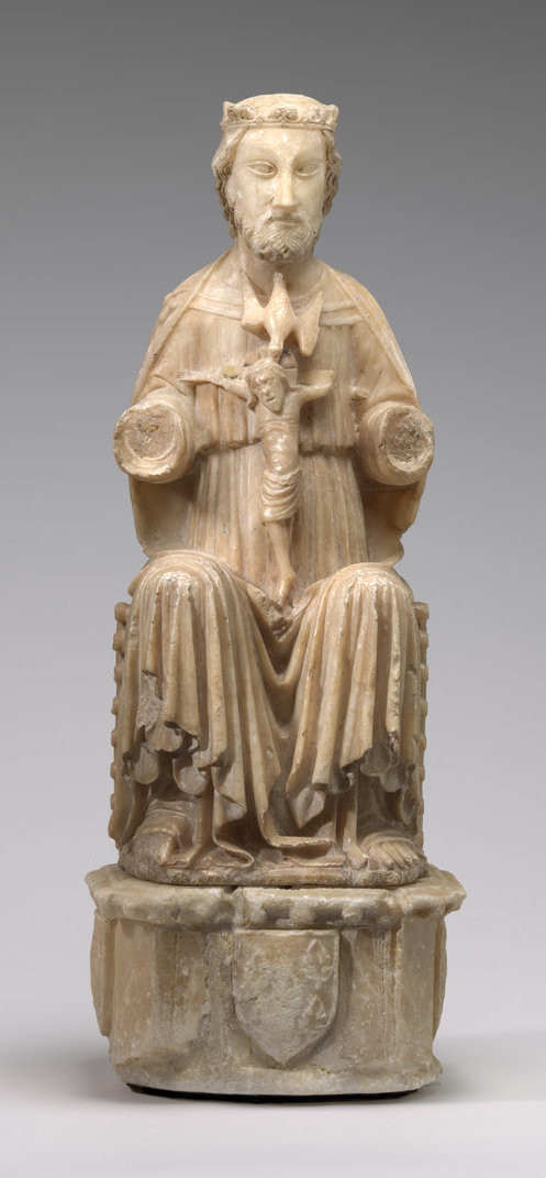 """14th Century English or Spanish sculpture """"Trinity"""": Alabaster. Samuel H. Kress Collection National Gallery of Art"""