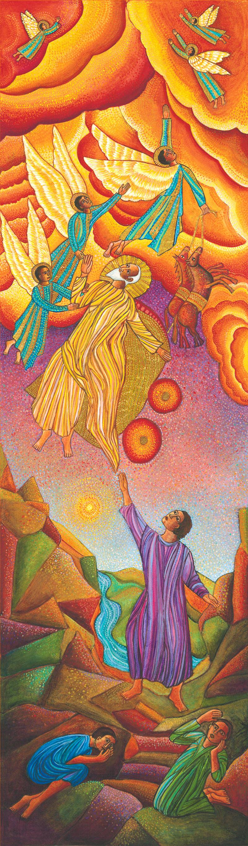 Elijah by Swanson, John August. Elijah, from Art in the Christian Tradition, a project of the Vanderbilt Divinity Library, Nashville, TN. [retrieved June 26, 2019]. Original source: www.JohnAugustSwanson.com - copyright 2008 by John August Swanson.