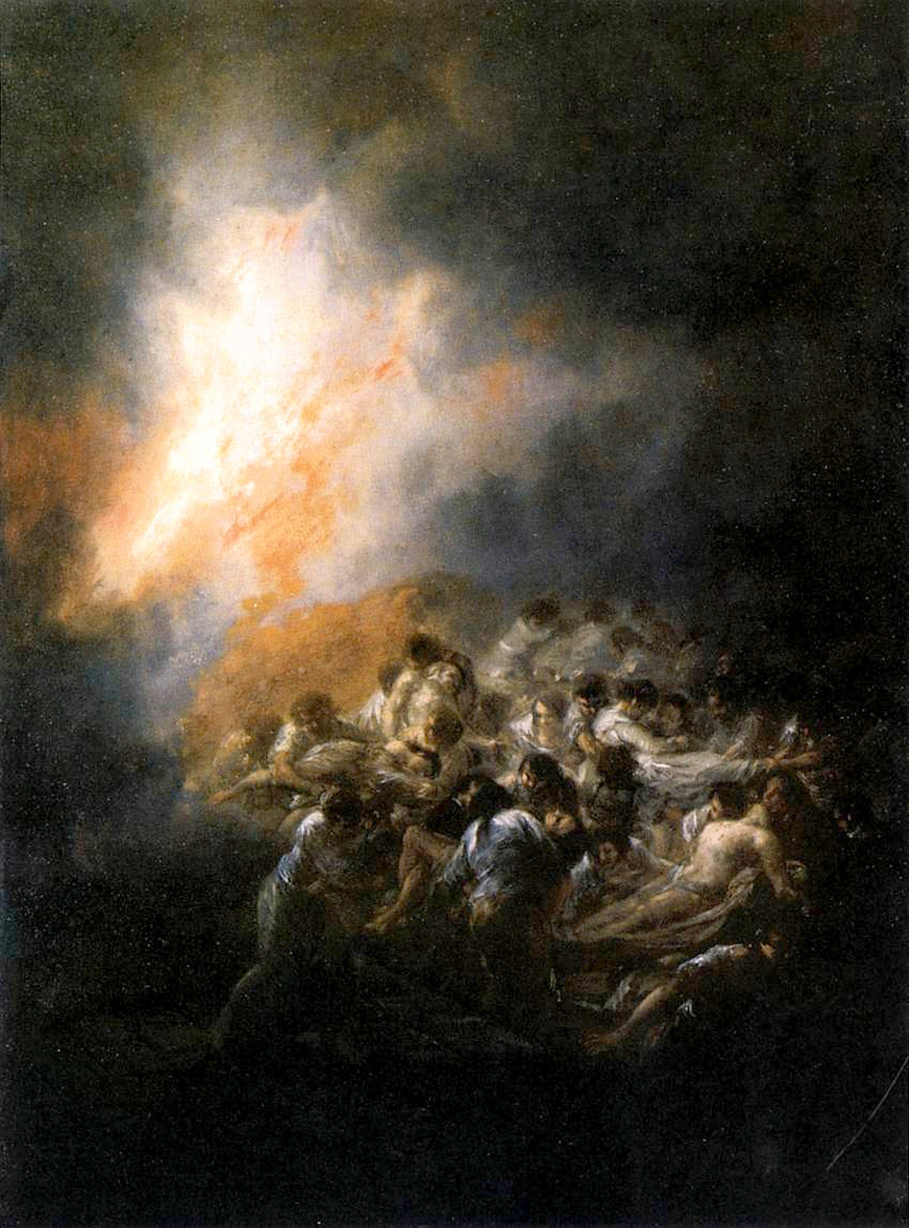 Incendio, fuego de noche by Francisco de Goya 1793 [public domain]