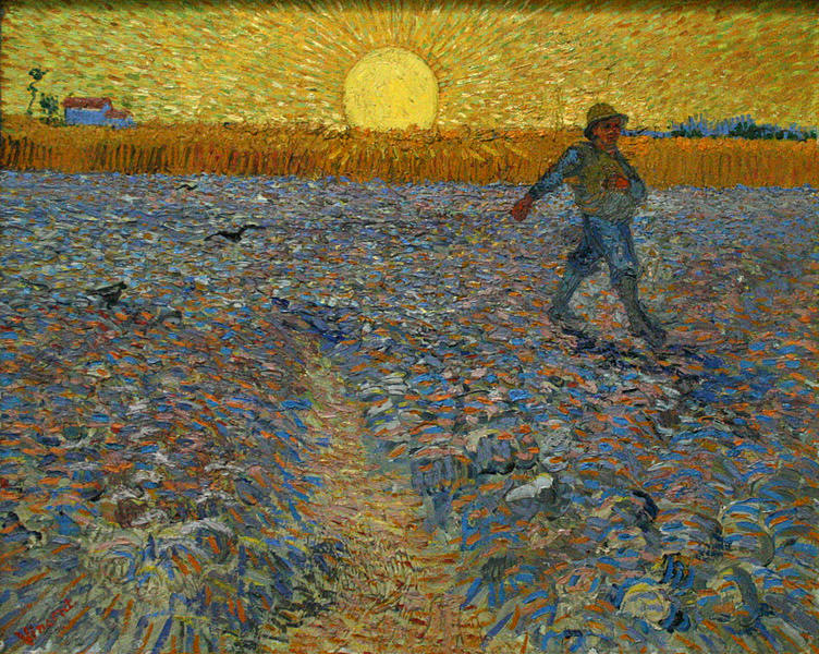 The Sower - painting by Van Gogh, public domain