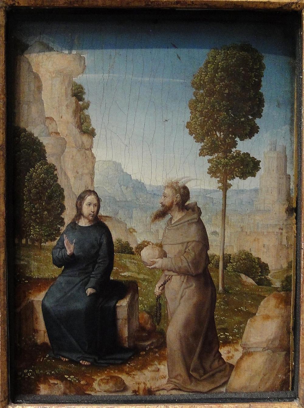 Juan, de Flandes, ca. 1465-1519. Jesus and the Tempter. c.1500