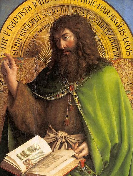 Detail of St. John the Baptist from the Ghent Altarpiece c1427, by Jan van Eyck [Public domain]
