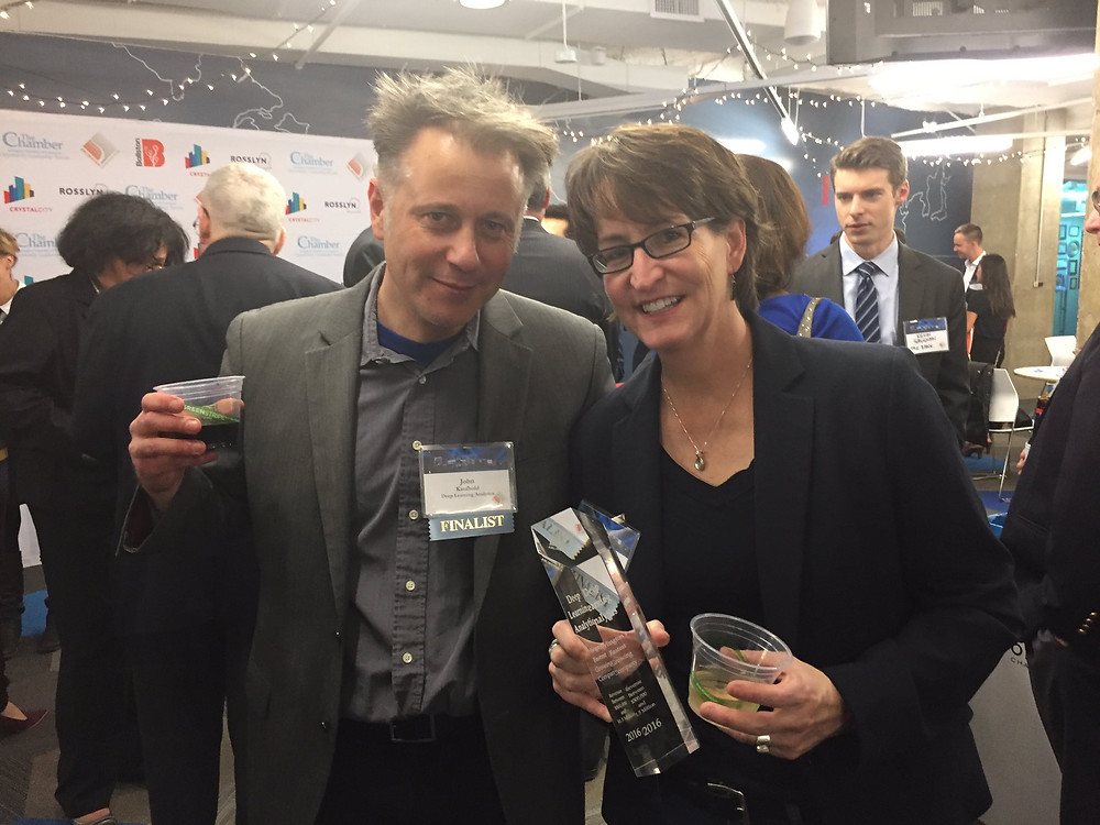 Founder John Kaufhold and COO Susette Rego accepted the award at the Arlington Premiere Event.