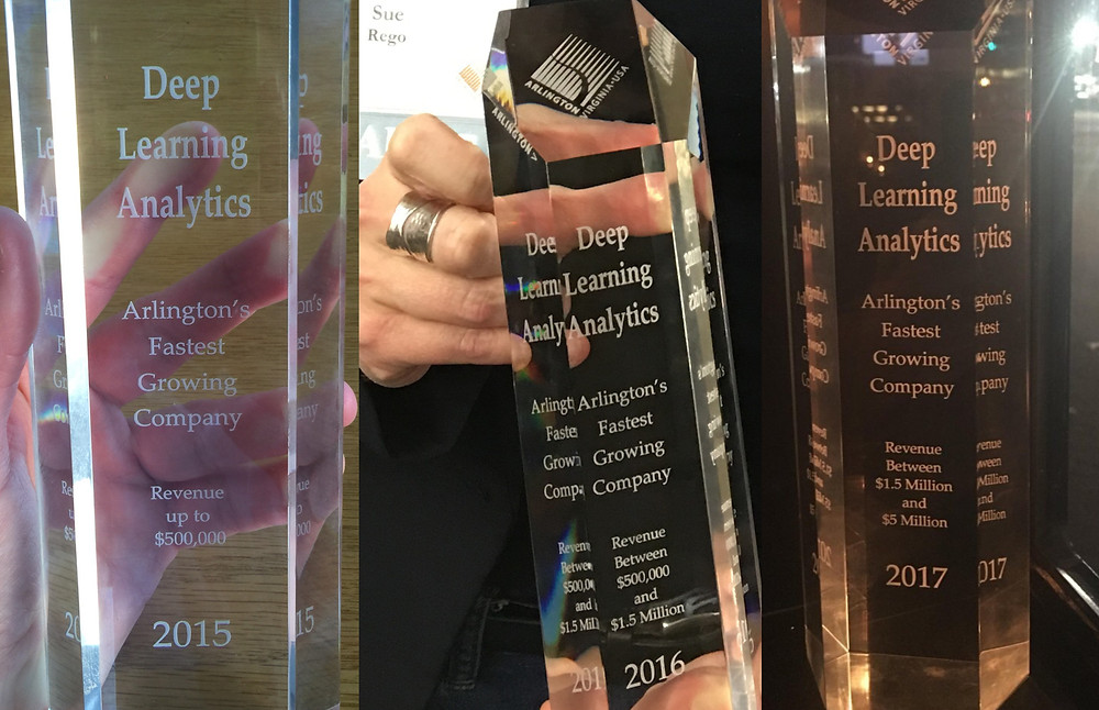 Deep Learning Analytics is Arlington, Virginia's fastest growing company for the third year in a row.