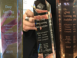 Deep Learning Analytics named Fastest Growing Company in Arlington Three Years in a Row