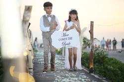 Kids on Grand Entrance Bali Wedding
