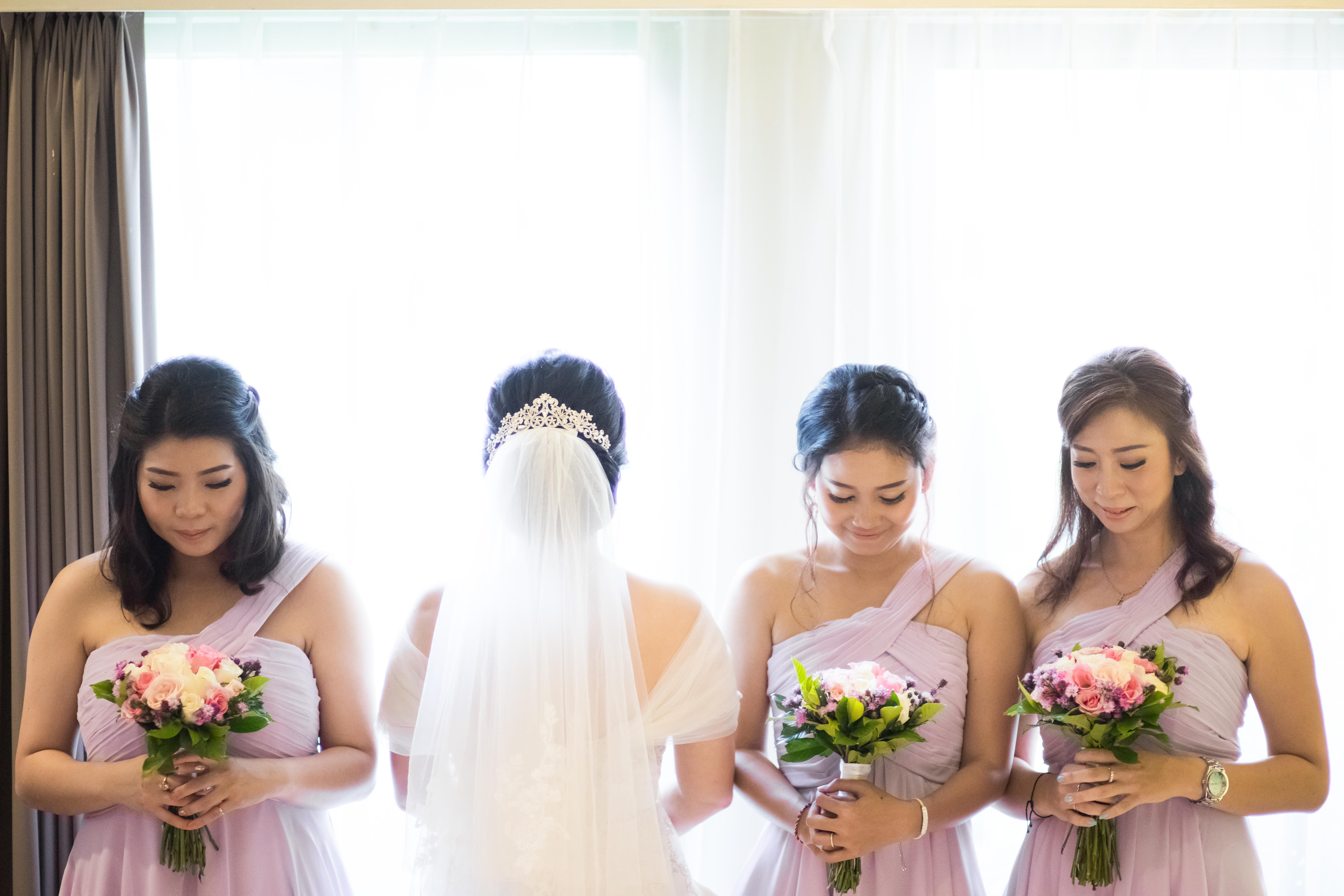 Bridesmaids Bali Weeding Photo