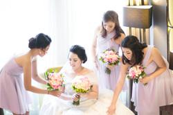 Bridesmaids Bali Weeding Photograph