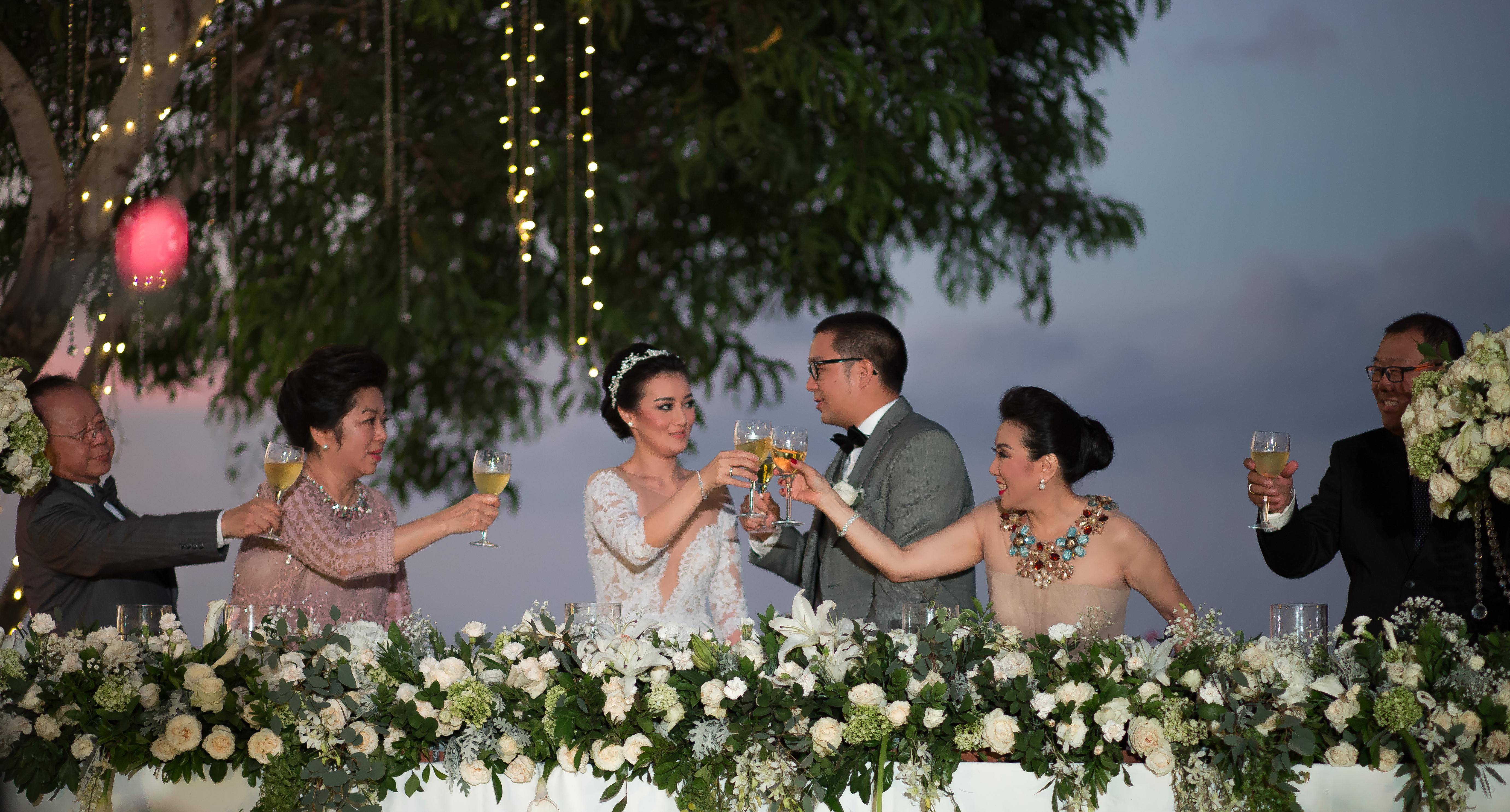 Wedding Toast Bali Photography