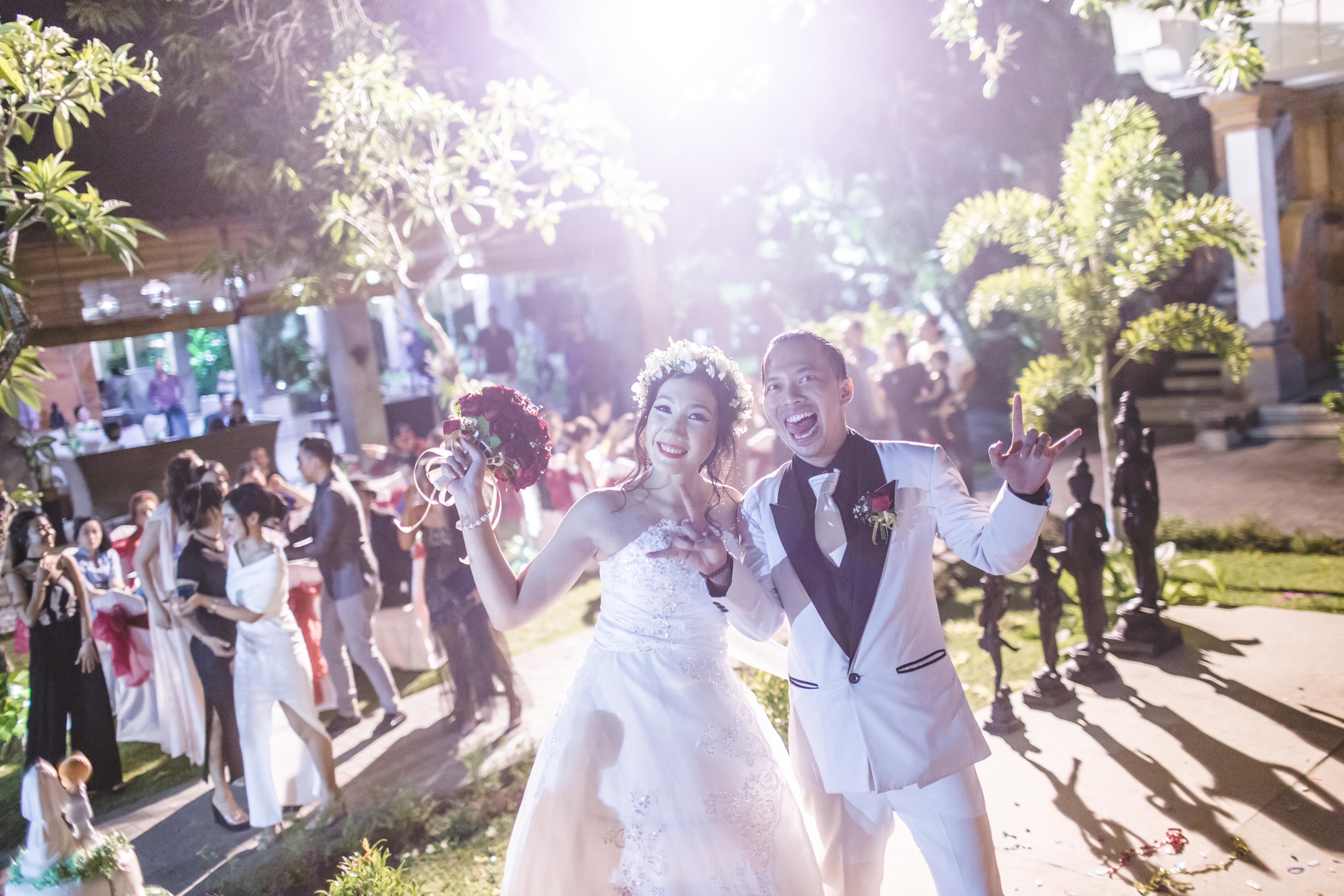 Happy Couple Bali Wedding Photo
