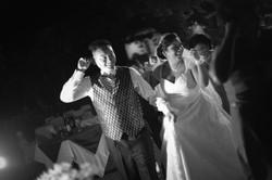 Greyscale Bali Wedding Photo