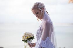 Caucasian Bride Bali Weeding Photo