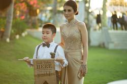Kids Entrance Bali Wedding Photo