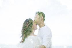Double Exposure Wedding Photo