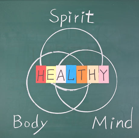 Healthy concept, Spirit, Body and Mind,