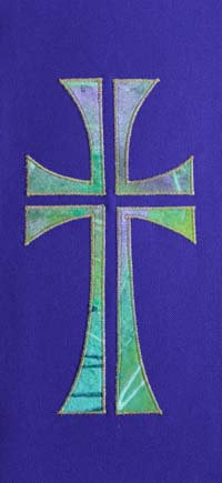multi coloured cross