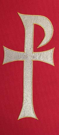chasuble - gold chi rho