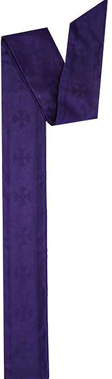 Plain Purple Priest Stole