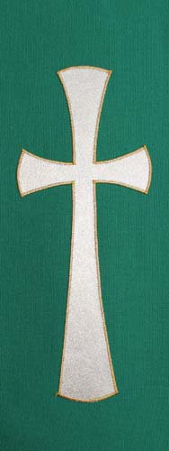 chasuble - gold cross