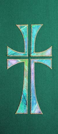 chasuble - multi coloured cross