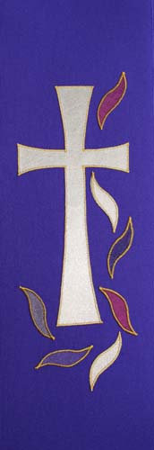 chasuble - cross & multi flame