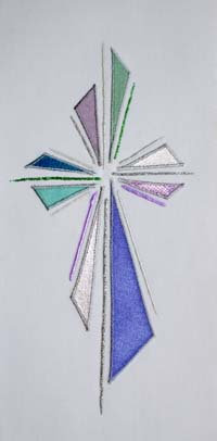set of 4 stoles - abstract cross II