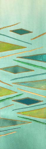 green geometric abstract