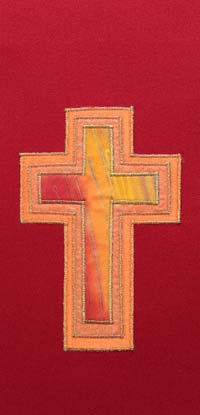 chasuble - 3 layer red cross
