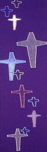 chasuble - cascading cross