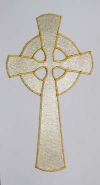 chasuble - gold celtic cross