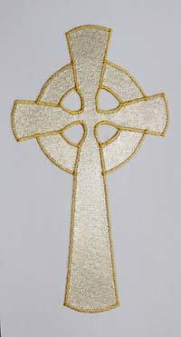 set of 4 stoles - gold celtic cross