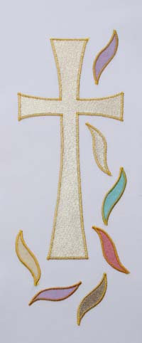set of 4 stoles - cross and flame