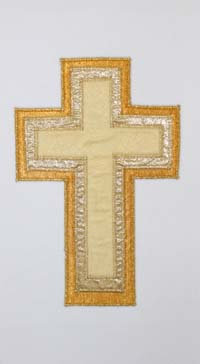 chasuble - 3 layer gold cross