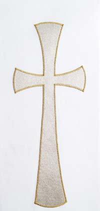 set of 4 stoles - gold cross