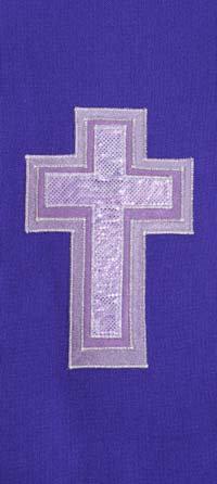 chasuble - 3 layer purple cross