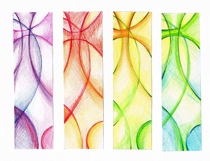abstract cross set of 4 banners
