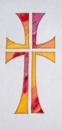 multi coloured cross