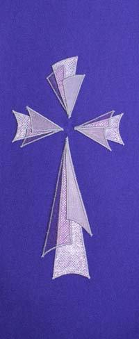 chasuble - triangular 3 layer cross