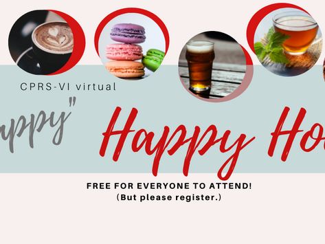 Join us at our (virtual) happy hour!