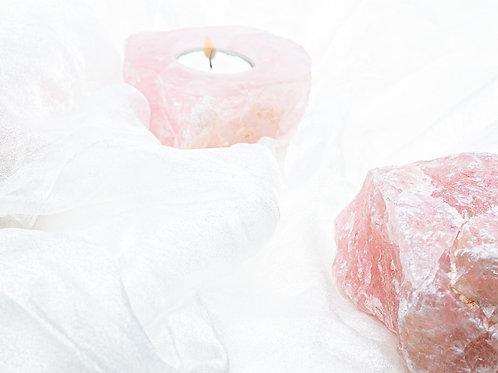 Rose Quartz Mini Candle Holder