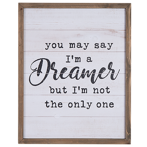 Wood Wall Sign - Dreamer